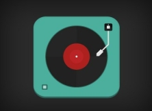 Flat-Record-Player-Icon-PSD